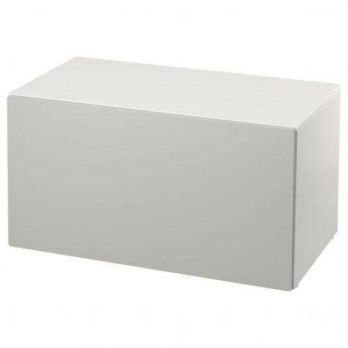 SMASTAD СМОСТАД, Скамья с отделением для игрушек, белый/серый, 90x52x48 см - 293.957.13