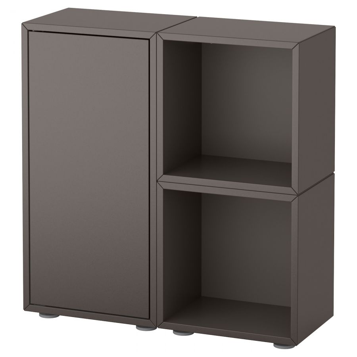 EKET ЭКЕТ, Комбинация шкафов с ножками, темно-серый, 70x25x72 см - 192.864.32