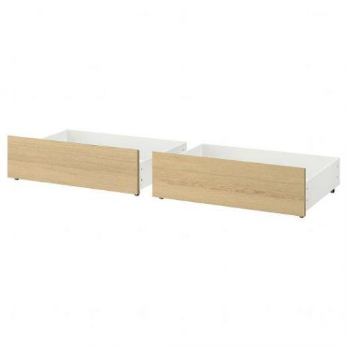 MALM МАЛЬМ, Ящик д/высокого каркаса кровати, дубовый шпон, беленый, 200 см - 203.691.48