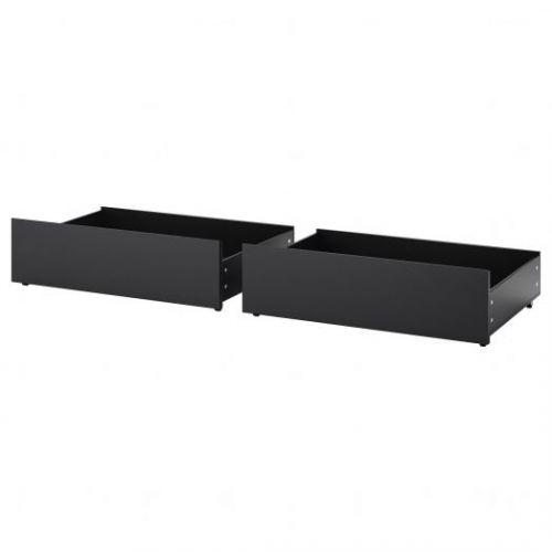 MALM МАЛЬМ, Ящик д/высокого каркаса кровати, черно-коричневый, 200 см - 403.691.47