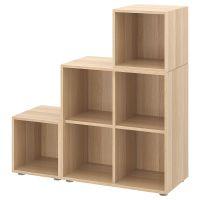 EKET ЭКЕТ, Комбинация шкафов с ножками, под беленый дуб, 105x35x107 см - 492.864.40