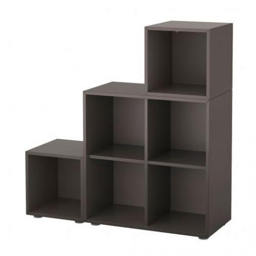 EKET ЭКЕТ, Комбинация шкафов с ножками, темно-серый, 105x35x107 см - 291.908.63