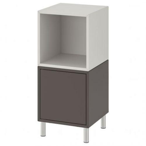 EKET ЭКЕТ, Комбинация шкафов с ножками, темно-серый/светло-серый, 35x35x80 см - 092.864.23