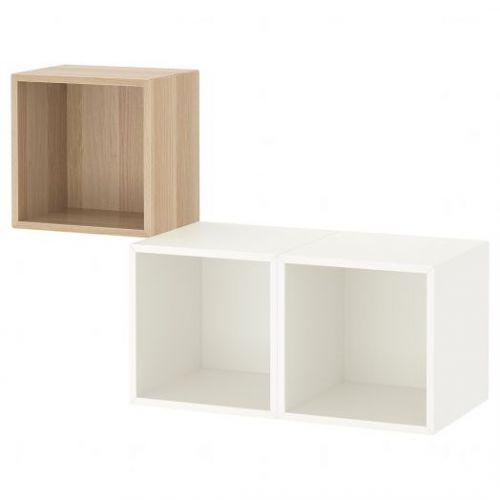 EKET ЭКЕТ, Комбинация настенных шкафов, под беленый дуб/белый, 105x35x70 см - 992.863.53