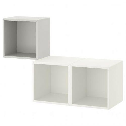 EKET ЭКЕТ, Комбинация настенных шкафов, светло-серый/белый, 105x35x70 см - 192.863.33