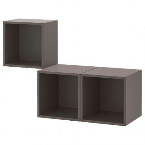 EKET ЭКЕТ, Комбинация настенных шкафов, темно-серый, 105x35x70 см - 492.863.55