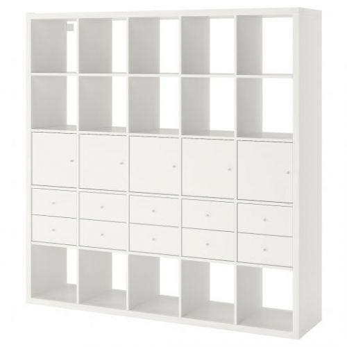 KALLAX КАЛЛАКС, Стеллаж с 10 вставками, белый, 182x182 см - 692.783.40