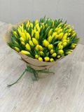 Букет из 101 тюльпана желтого