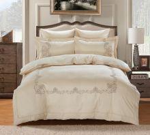 Комплект постельного белья  Сатин вышивка  VALENCIA евро   Арт.5125/2