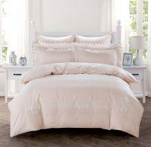 Комплект постельного белья  Сатин с вышивкой  NELI евро   Арт.5127/3
