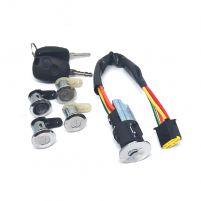 RK04192 * 806010137R * Выключатель зажигания для а/м LAR Фургон, Renault Logan, Sandero, компл. 4 личинки дверей + 2 ключа