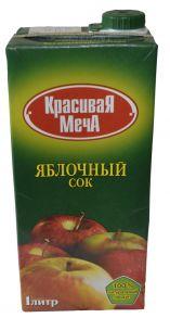 Сок Красивая Меча яблочный