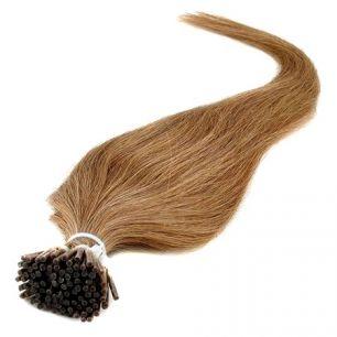 Натуральные волосы на кератиновой капсуле I-тип, №012 Светло-русый золотистый - 50 см, 100 капсул.