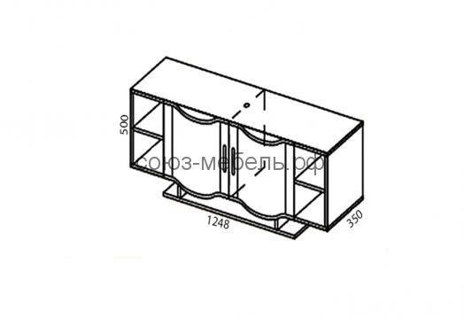 Гостиная Глория (бар БР+тумба ТБ-2+шкаф навесной ШН-3+карниз КР-2+шкаф ШУ)