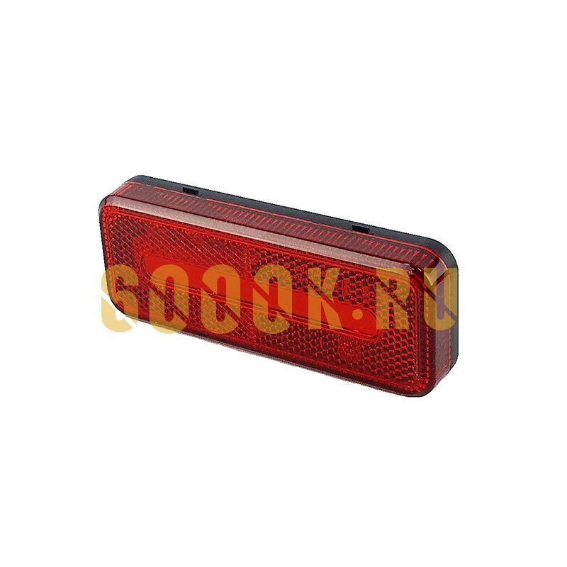 Светодиодный прямоугольный габаритный фонарь для прицепа (красный)