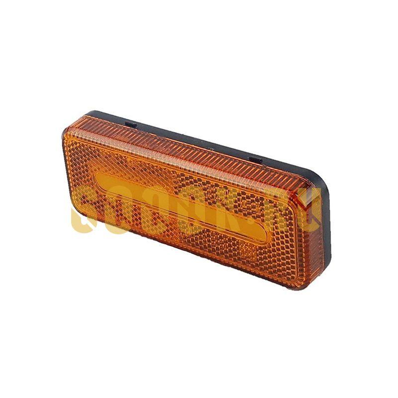 Светодиодный прямоугольный габаритный фонарь для прицепа (оранжевый)