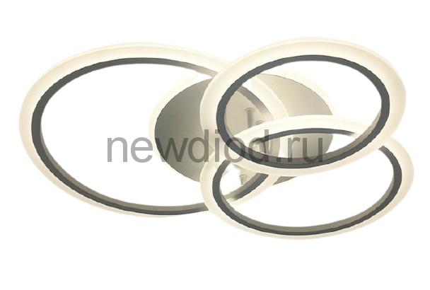 Управляемая светодиодная люстра SONNE 90W 4R-RC-600x530x120-WHITE/WHITE-220-IP20