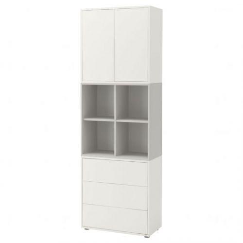 EKET ЭКЕТ, Комбинация шкафов с ножками, белый/светло-серый, 70x35x212 см - 992.865.17