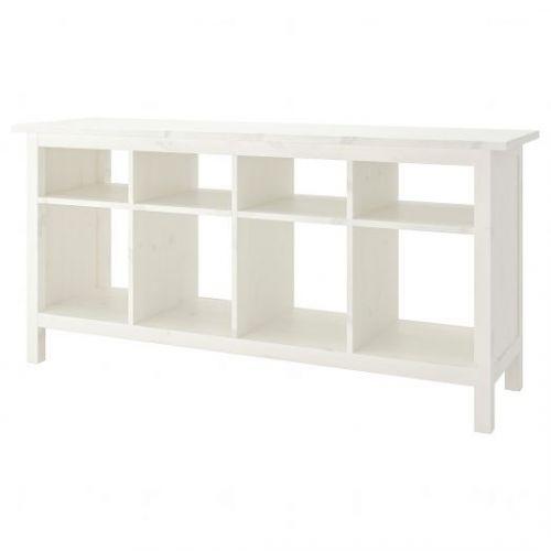 HEMNES ХЕМНЭС, Консольный стол, белая морилка, 157x40 см - 603.831.52