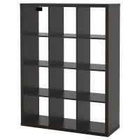 KALLAX КАЛЛАКС, Стеллаж, черно-коричневый, 112x147 см - 804.099.38