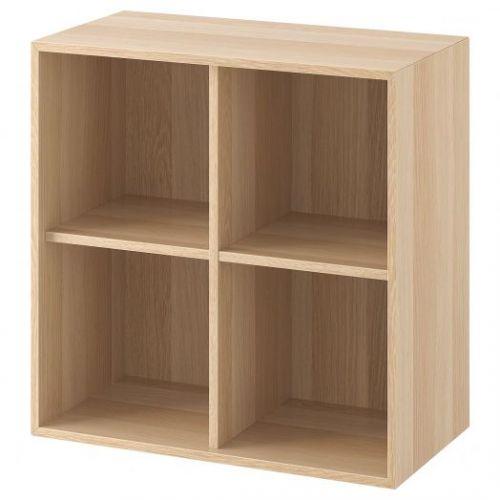 EKET ЭКЕТ, Шкаф с 4 отделениями, под беленый дуб, 70x35x70 см - 904.288.56