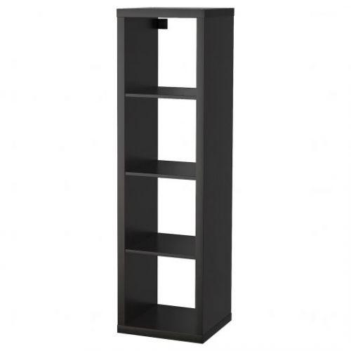 KALLAX КАЛЛАКС, Стеллаж, черно-коричневый, 42x147 см - 103.795.72