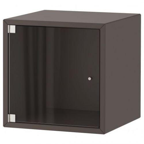 EKET ЭКЕТ, Навесной шкаф со стеклянной дверью, темно-серый, 35x35x35 см - 293.363.61