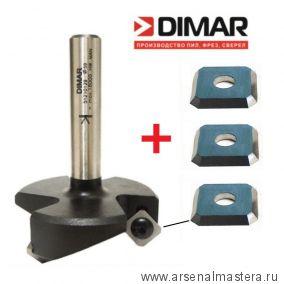 Фреза для выравнивания больших поверхностей и СЛЭБОВ D 59 L 80 S 12 DIMAR 51210129 с комплектом запасных ножей 51210129-3608544-3-АМ