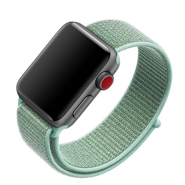 Ремешок нейлоновый для Apple Watch 42/44mm зеленый