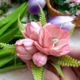 """Силиконовая форма """"Соцветие тюльпанов"""" диаметр 6 см высота 5 см вес в мыле около 40 гр"""