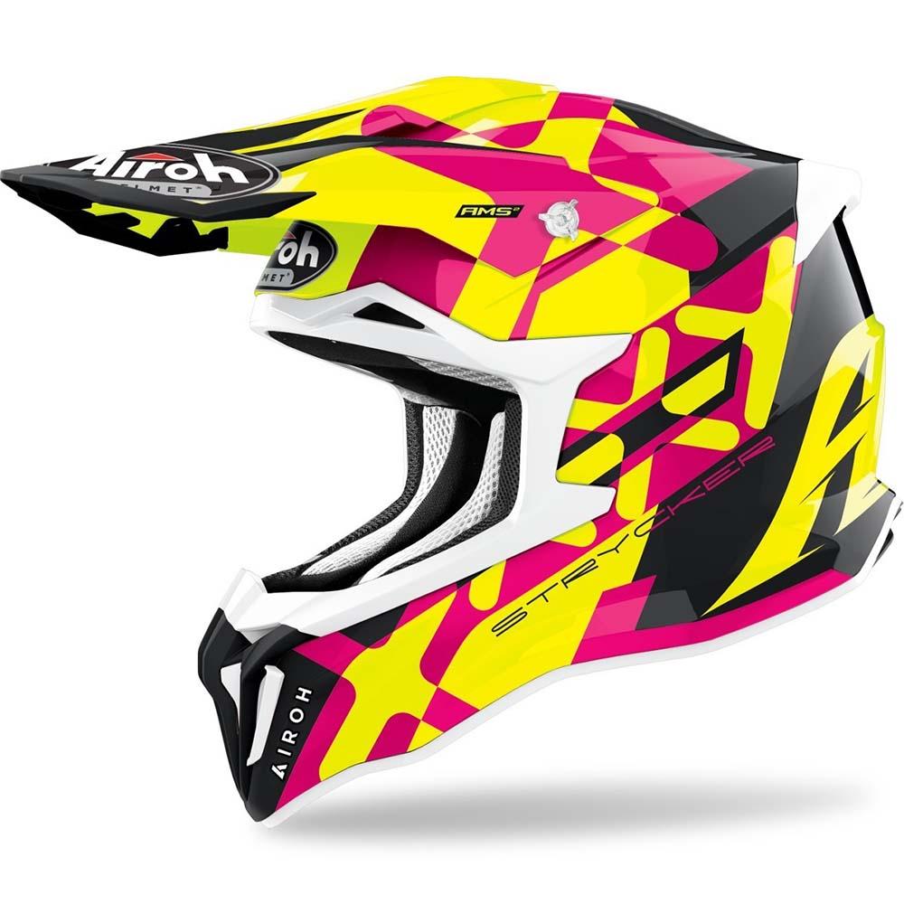 Airoh Strycker XXX Pink Gloss шлем для мотокросса и эндуро