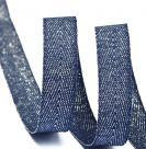 Тесьма киперная металлизированная TBYT 16 мм темно-синий