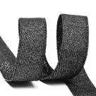 Тесьма киперная металлизированная TBYT 16 мм черный