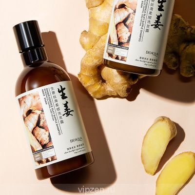 Boquan ya имбирь шелк гладкий шампунь глубокое очищение увлажняющий контроль масла улучшение волосяной шампунь оптом
