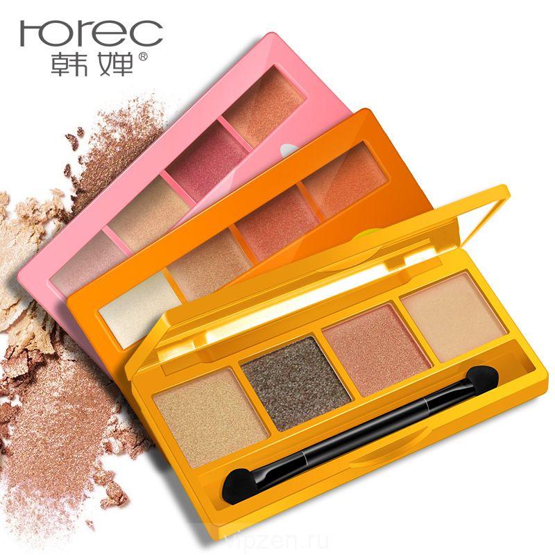 Хань Чань блеск красивый четыре цвета тени для век цвет красивый естественный макияж не легко снять гламур глаз тени для век макияж