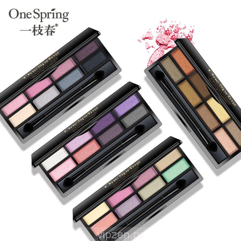 Производители красочные гламурные восемь цвета тени для век цвет красивые гламурные глаза водонепроницаемый пот натуральный макияж оптом