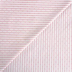 Хлопок - Полоска мелкая розовая с точками 50x40