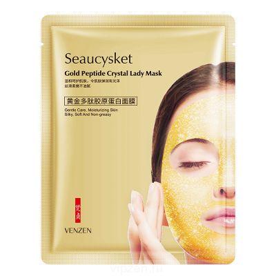 Van Zheng Gold пептид коллагеновая маска улучшает сухость лица увлажняющая маска для лица