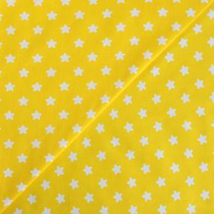 Хлопок - Звезды белые на желтом 50x40
