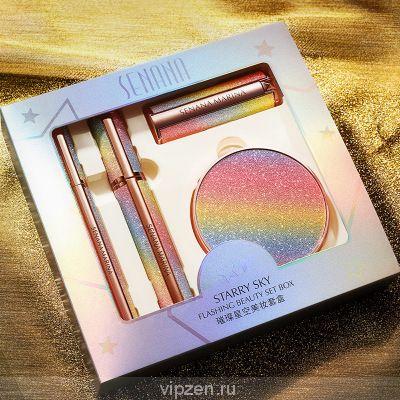 Цвет Nana яркое звездное небо красивый макияж коробка тонкий дышащий равномерный тон кожи корректор изолированный макияж четыре комплекта