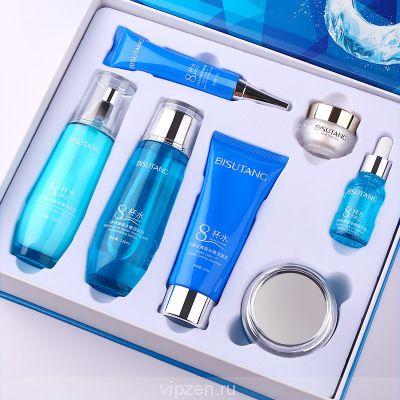 BI suitang восемь чашек воды тонирование семь частей комплект увлажняющий освежающий уход за кожей лица завод прямых продаж