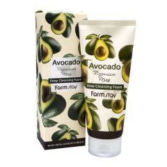 770890 FarmStay Очищающая пенка с экстрактом авокадо Avocado Premium Pore Deep Cleansing Foam