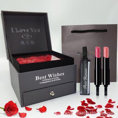 Высококачественная губная помада подарочная коробка на заказ День святого Валентина подарок на день рождения, чтобы отправить подругу жена Белая роза производитель