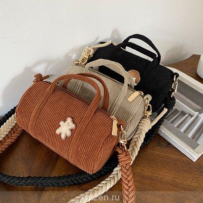 Сумка осень-зима дикие 2020 вельвет ручной носить сумка мода подушка сумка одно плечо косой крест мини-сумка