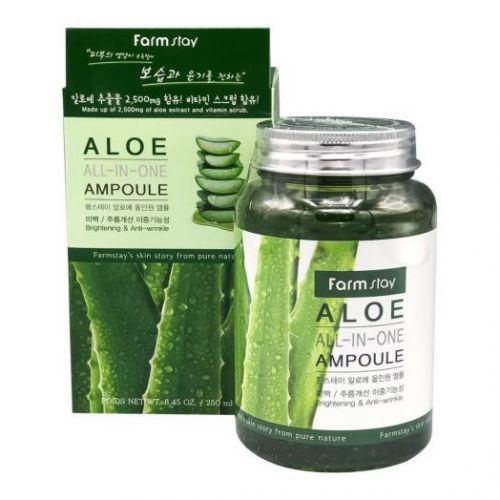 772877 FarmStay Многофункциональная ампульная сыворотка с экстрактом алоэ Aloe All-In-One Ampoule