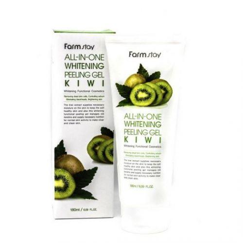 284774 FarmStay Отшелушивающий гель с экстрактом киви, выравнивающий тон кожи All-In-One Whitening Peeling Gel Cream Kiwi