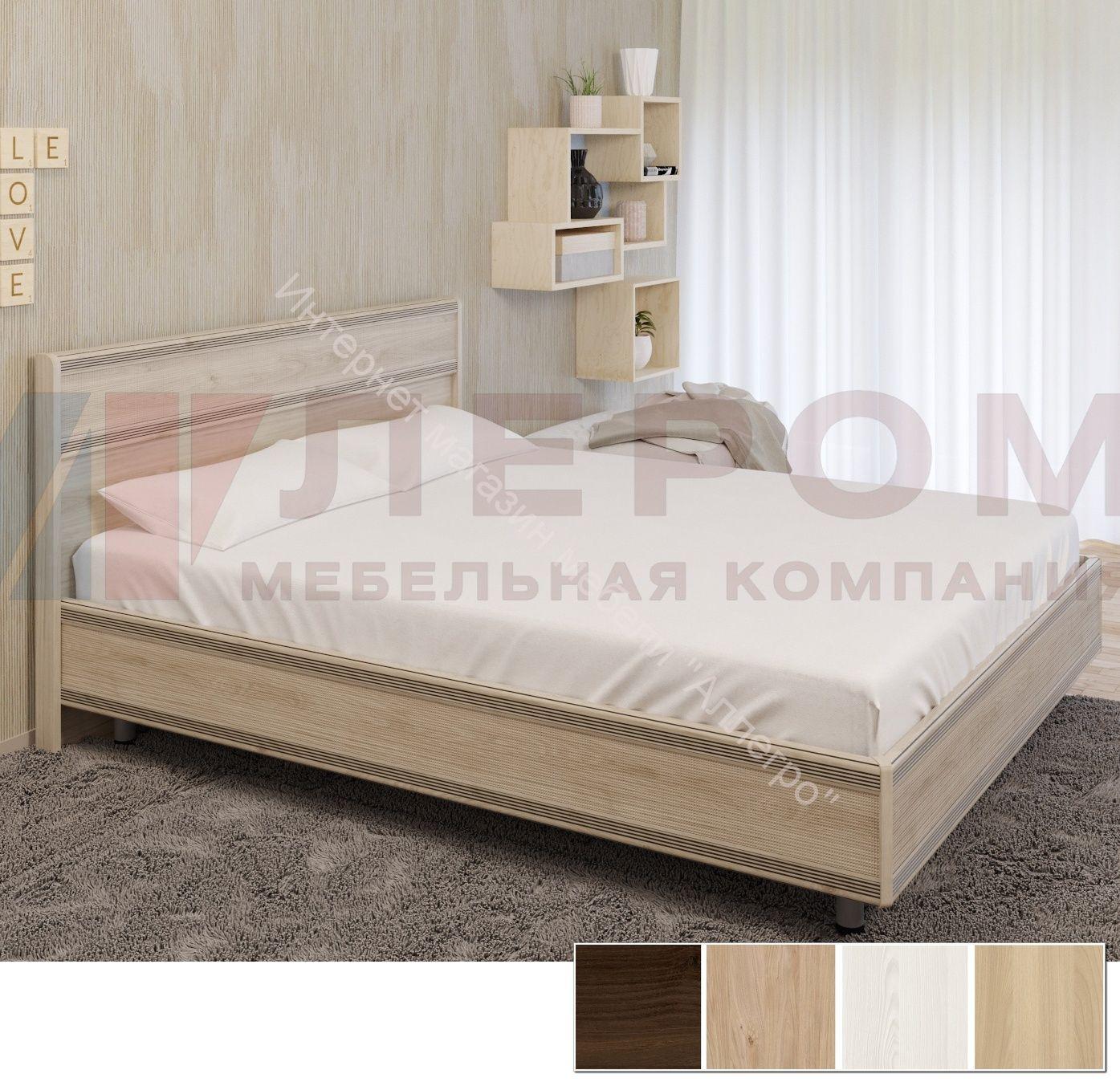 Кровать КР-2004 (1,8*2,0) Карина с жестким изголовьем