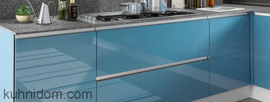 Кухня Kristali NEW (Кристали NEW) голубая с ящиками
