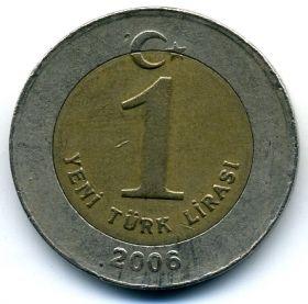 Турция 1 нов. лира 2006