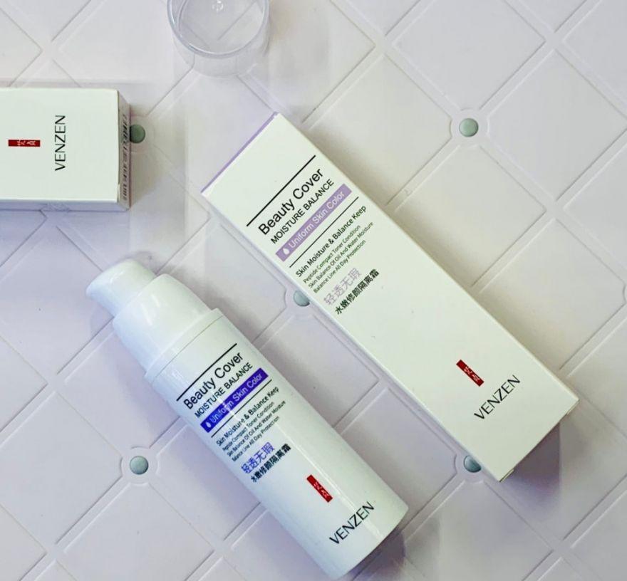 Защитная база под макияж Venzen Beauty Cover (фиолетовая), 30 гр (1412120)